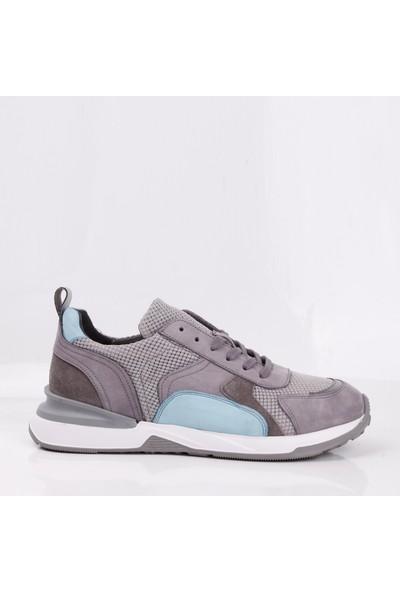 Bruno Shoes 4056E Erkek Deri Eva Taban Günlük Ayakkabı-Gri