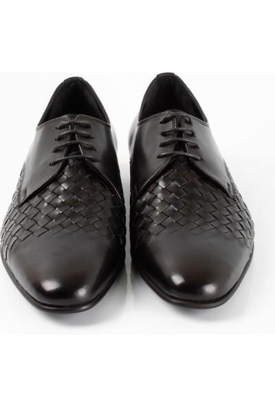 Bruno Shoes 7184N Erkek Örgülü Neolit Taban Ayakkabı - Siyah