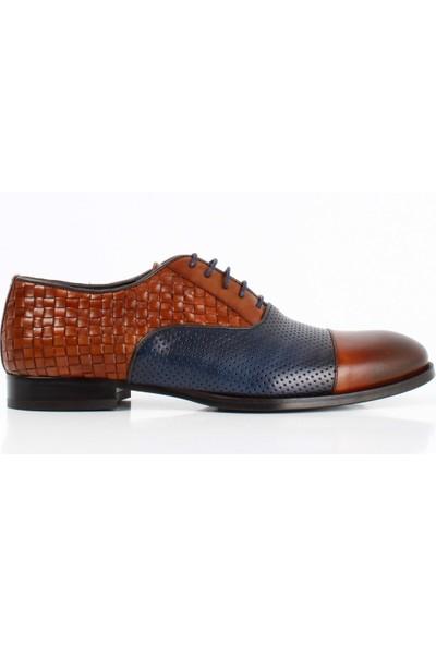 Bruno Shoes 6181K Erkek Klasık Hakıkı Derı Örgü Kösele Taban Ayakkabı