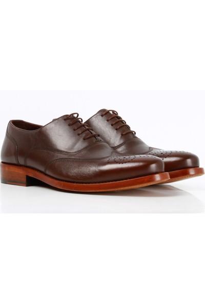 Bruno Shoes 135101GK Erkek Gazumalı Kösele Ayakkabı - Kahve