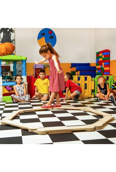 Minera Denge Kirişi, Denge Tahtası Çocuk Aktivite Oyuncağı Çocuk Dış Mekan Spor (7'li Set)
