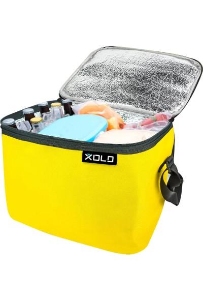 Xolo Oto Araç Termos Buzluk Çanta Sarı 24 Litre Thermo Bag Katlanabilir
