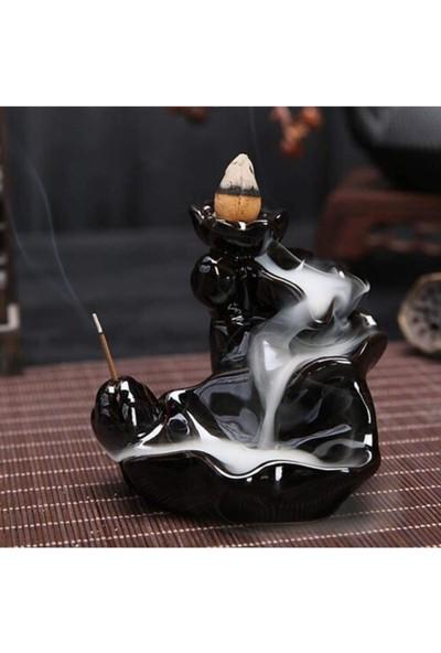İyibifikir Zen Dekoratif Geri Akışlı Şelale Tütsülük + 5 Adet Hediye Tütsü