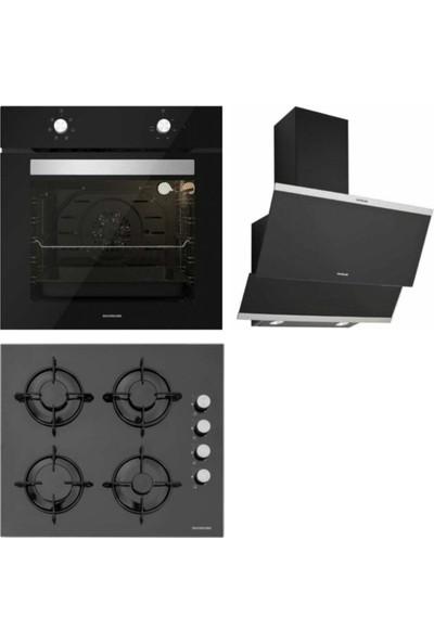 Silverline Cam Ankastre Set (BO6501B01 - CS5349B01 - 3420 Classy 60 Siyah)