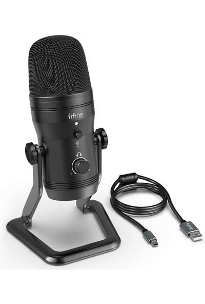 Fıfıne K690 Kondansatör Podcast USB Mikrofon
