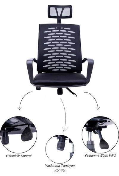 Grey Evo Ev ve Ofis Çalışma Sandalyesi Oyuncu Koltuğu Bilgisayar Sandalyesi