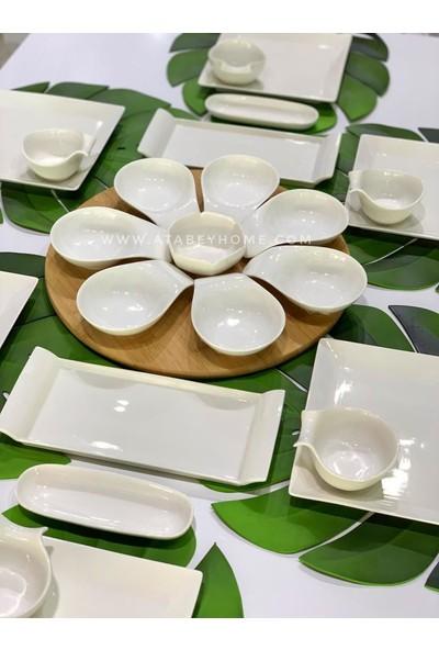 Bambum Porselen 25 Parça 6 Kişilik Kahvaltı Takımı