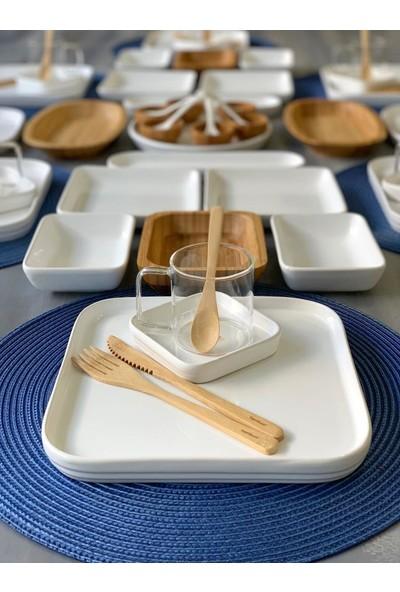 Atabey Atabeyhome Ibiza 65 Parça Bambum Seramik Kahvaltı Seti