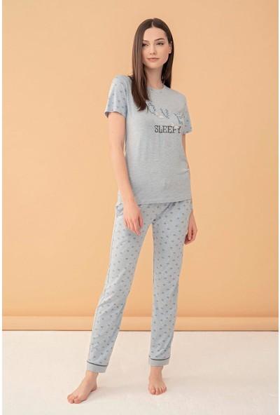 Feyza 4000 Kadın Kısa Kollu Pijama Takımı