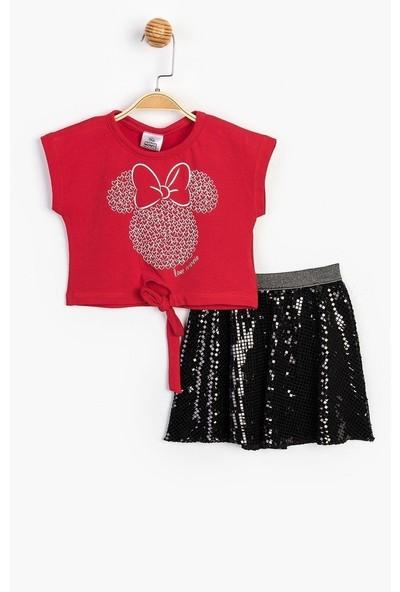 Çimpa Minnie Mouse Payetli Ikili Takım