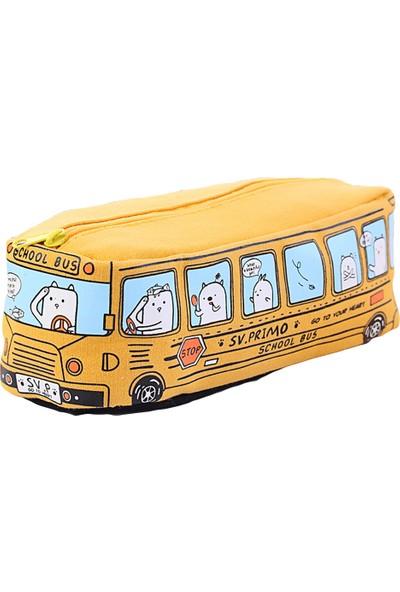 Farfi Yaratıcı Karikatür Hayvan Otobüsü Desenli Kalemlik (Yurt Dışından)