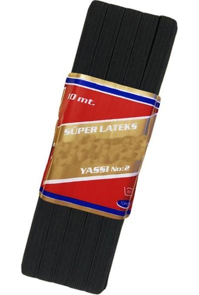 YYB Yassı Siyah Bel Paça Don Lastiği En: 0,80 cm 10 M. 4 Adet