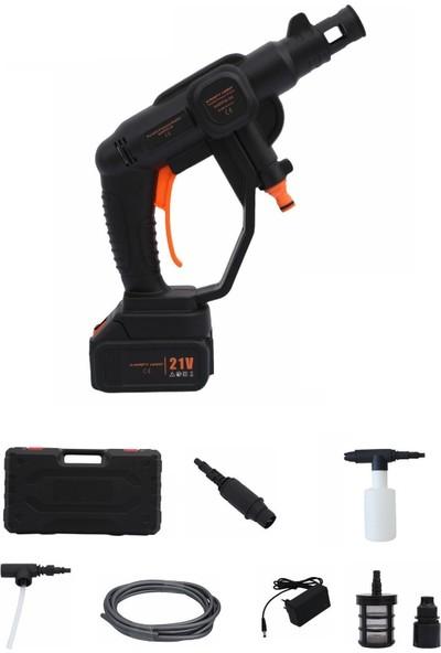 Hitfoni Şarjlı Oto Yıkama Makinesi 50 Bar Akülü Basınçlı Oto Yıkama 21V 2.4A