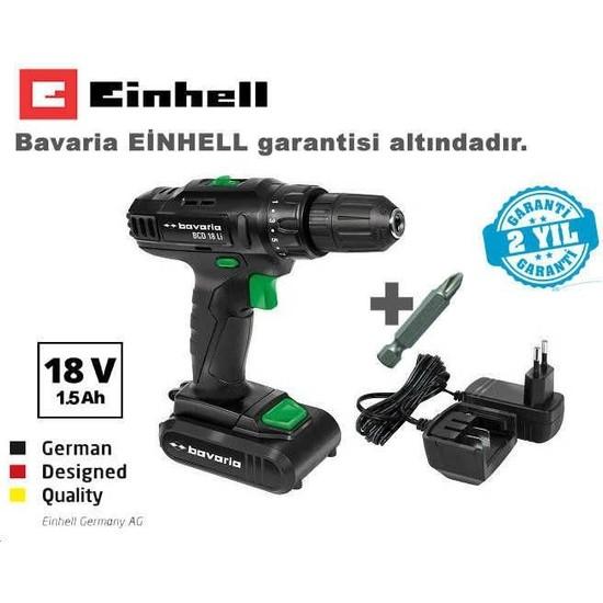 Einhell Bavaria BCD 18 LI 18V 1.5 Ah Li-ion Tek Akülü Vidalama