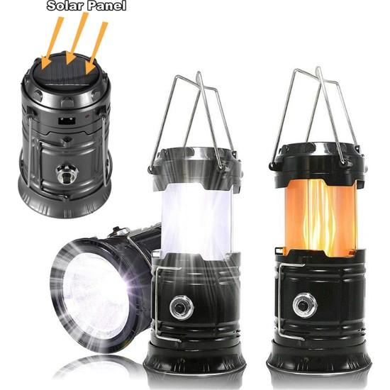 Yopigo Sha Gu X-31 Kamp Feneri Şarj Edilebilir Usb'li ve Güneş Enerjili Işıldak Lamba, Masa Lambası, Kamp Lambası, Çadır Işığı , El Feneri