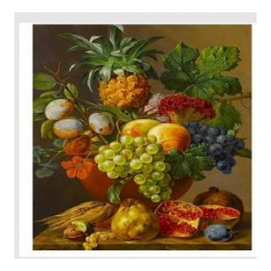 Art Liva Sayılarla Boyama Hobi Seti Tuvalli 40X50 cm Meyve Şöleni