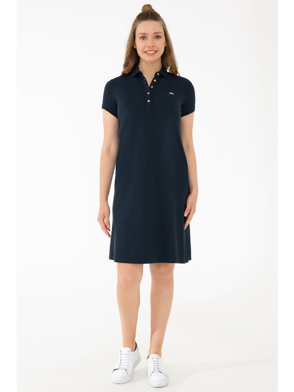 U.S. Polo Assn. Lacivert Örme Elbise 50245198-VR100
