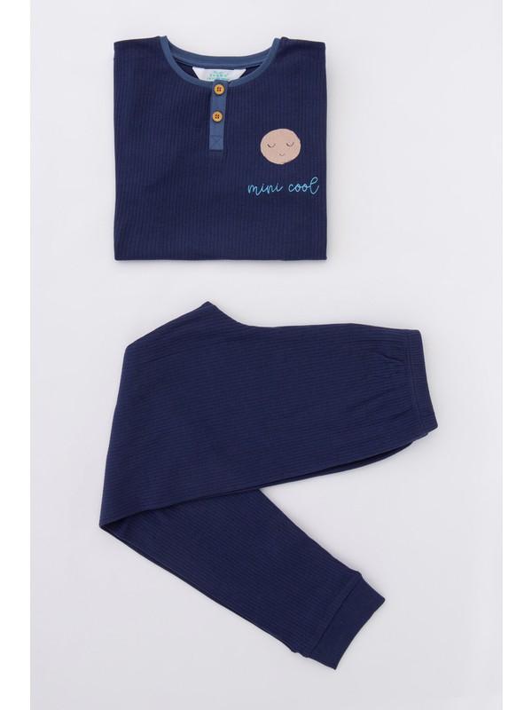 Penti Mavi Erkek Çocuk Mini Cool 2li Pijama Takımı