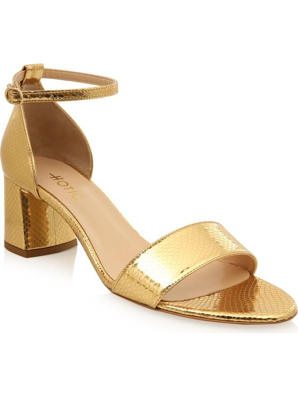 Hotiç 01SAH175410A540 Gold Kadın Sandalet