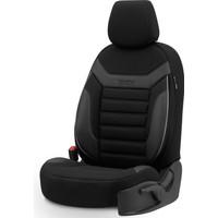 Otom Individual Design Airbag Dikişli Ekstra Destekli Özel Tasarım Oto Koltuk Kılıfı Siyah - Gri