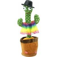 Çınarlı Konuşan Dans Eden Kaktüs Işıklı Saksı Peluş Oyuncak Cactus Toy