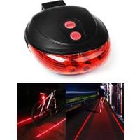 Taled Bisiklet LED Lazer Işığı Güvenlik Şeritli Arka Stop Lamba