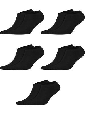 Socksmax Kadın Pamuklu Siyah 5'li Patik Çorap - 0653