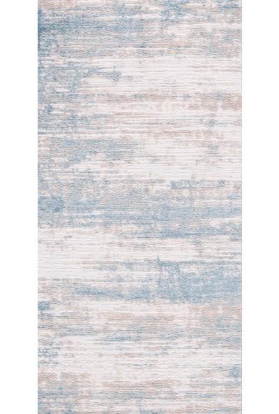 KREASYON Eva 1003 Bej Mavi Renkli Halı 120 x 180 cm