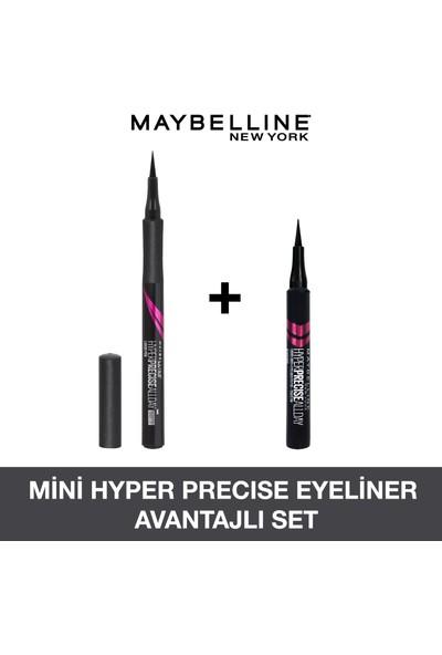 Maybelline New York Hyper Precise All Day Eyeliner 701 Matte Onyx- Mat Siyah + Hyper Precise Mini Eyeliner