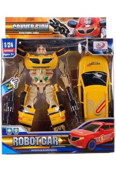 Suden Transformers Dönüşen Silahlı Robot Araba Sesli Işıklı 25 cm