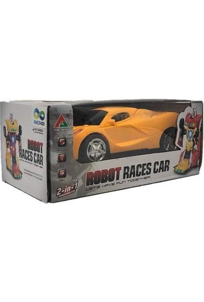 Suden Bumblebee Robota Dönüşen Araba Pilli - Işıklı, Sesli, Camaro Araba, Robot Araba-25 cm