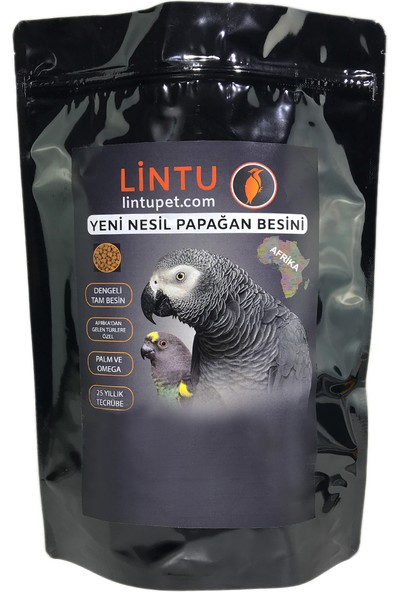 Lintu Afrika Yüksek Enerji Papağan Besini - 1 KG