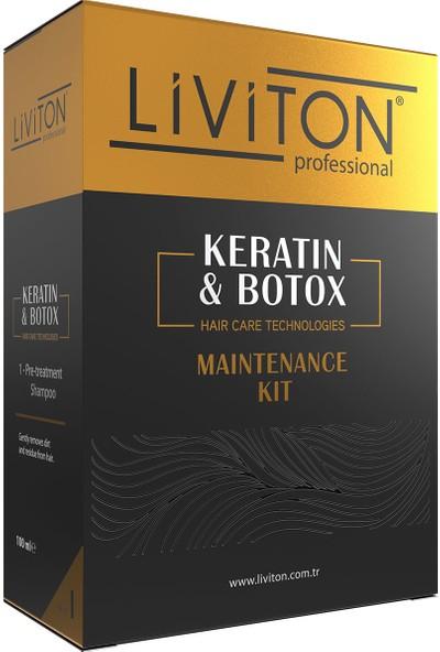 Liviton Professional Saç Düzleştirici ve Keratin Bakım Seti 100 ml