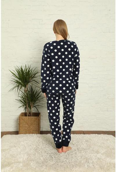 Akbeniz Welsoft Polar Kadın Manşetli Pijama Takımı 8400