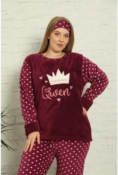 Akbeniz Welsoft Polar Kadın Büyük Beden Pijama Takımı 808009