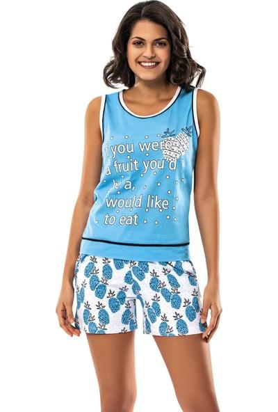 Erdem İç Giyim Blue Pineapple Sleepwear