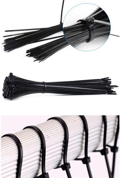 Xolo 100 Adet Siyah Plastik Kelepçe Cırt Kablo 3.6 20CM Uzunluk