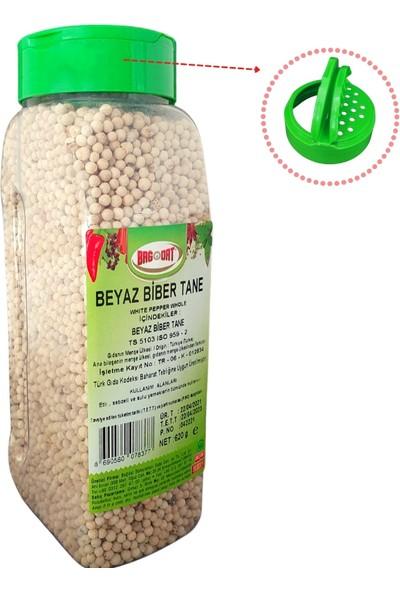 Bağdat Beyaz Biber (Ak Biber) Tane 620 gr - Tuzluk Kapak Pet Kavanoz Özel Seri