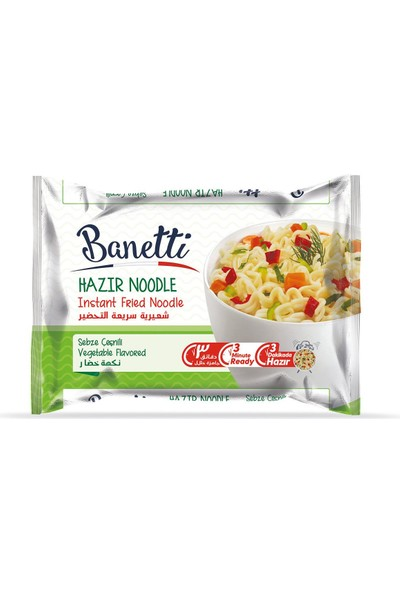 Banetti Noodle Sebze Çeşnili Poşet 75 gr x 3'lü
