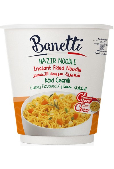 Banetti Noodle Köri Çeşnili Poşet 65 gr x 3'lü