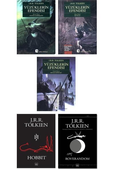 J. R. R. Tolkien 5 Kitap Set / Yüzüklerin Efendisi 3 Kitap + Hobbit + Roverandom