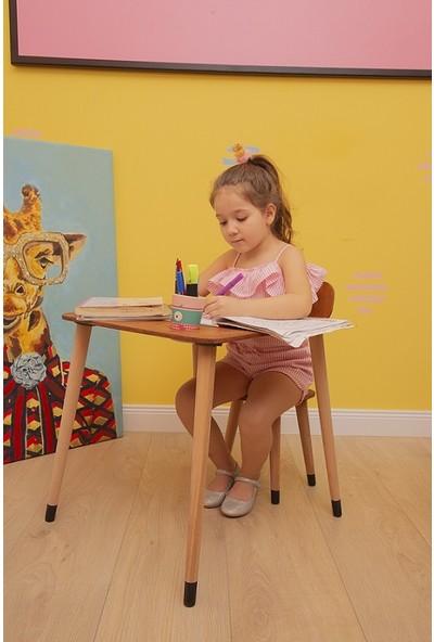 Art Ahşap Ahşap Kayın Çocuk Masa Sandalye Takımı Aktivite Masası Çocuk Oyun Masası Çalışma Masası
