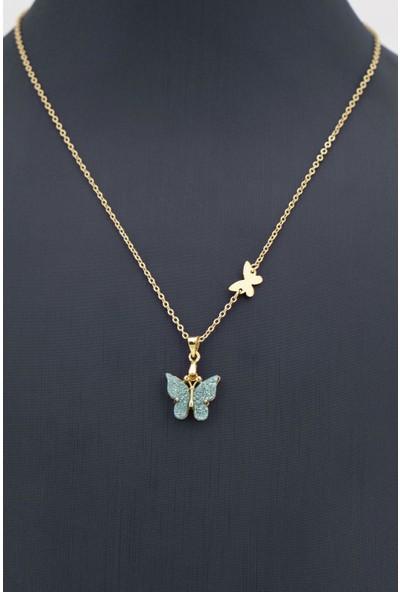 Sortie Accessories Kelebek Figürlü Renkli Kolye