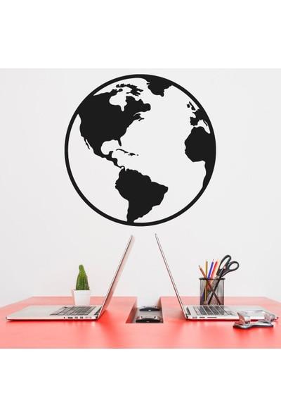 Dijitalya | Dünya Haritası Dekor Sticker