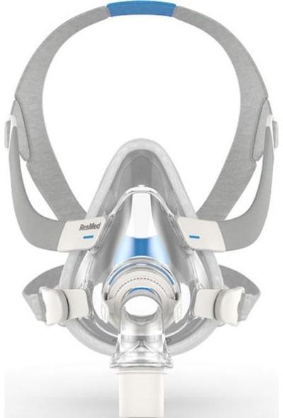 Resmed Airfit F20 Cpap Bpap Silikon Tam Yüz Ağız Burun Maskesi - Büyük Boy / Large