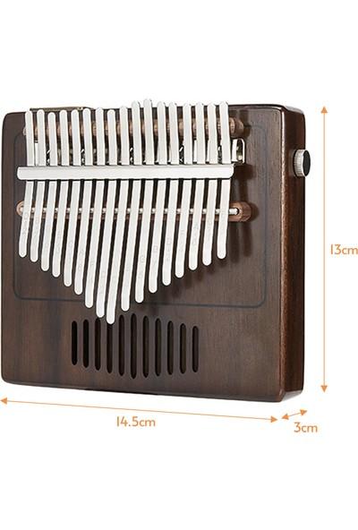 Tom 17 Tuşlu Başparmak Piyano Mbira Sanza Ceviz Masif Ahşap Kalimba (Yurt Dışından)