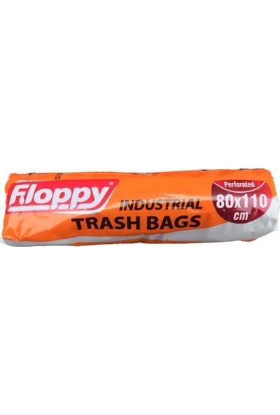Floppy Endüstriyel Jumbo Siyah Çöp Torbası 80X110 cm 300 gr 10'lu x 5 Paket