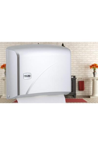 Vialli K1M Z Katlı Kağıt Havlu Dispenseri Metalik-Kapasite 200 Kağıt