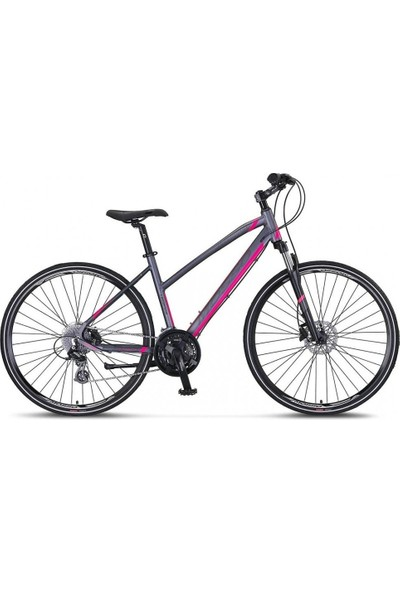 Mosso LEGARDA-2121-LSM-H Bayan Şehir Bisikleti 460H Hd 28 Jant 21 Vites Mürdüm/pembe