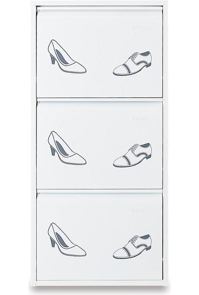 Kaser Metal 3'lü Metal Ayakkabılık